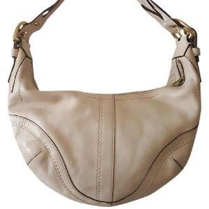 Coach 10042 Soho Hobo Shoulder Handbag Purse Cream